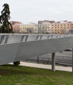 Eurofinsa construyendo futuro.Pasarela de Ramón Aguinaga en la M30, Madrid.Españ